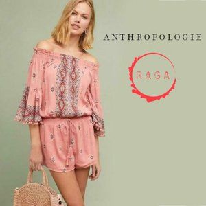 Raga for Anthropologie Bohemian Pink Romper Size M